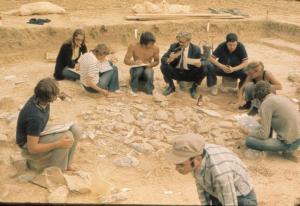 Étiolles, 1972 Premières fouilles