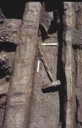 Hache-marteau en bois de cervidé avec son manche (Bronze Moyen). Cliché ArScAn - Protohistoire égéenne
