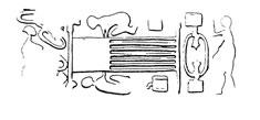 Métier à tisser, Suse, fin du IVème millénaire (GMA 275, cité par C. Breniquet, ArScAn - HAROC) data-id=